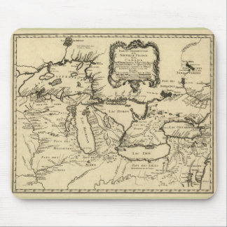 1755 Great Lakes and New France / Canada Map Mouse Pads