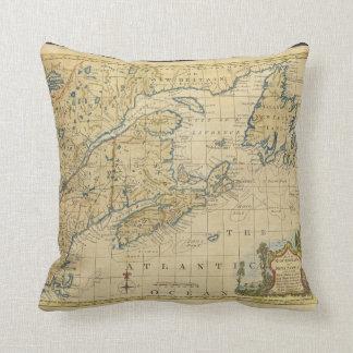 1758 New England & Nova Scotia Map Thomas Kitchin Throw Pillow