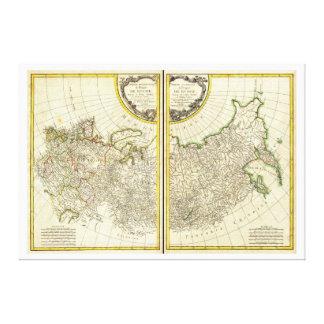 1771 Rigobert Bonne Map of Russia Canvas Print