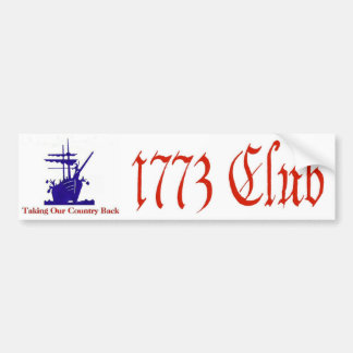 1773 Club Bumper Sticker