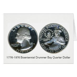 1776-1976 Bicentennial Drummer Boy Quarter Dollar Card
