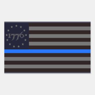 1776 Blue Line Sticker