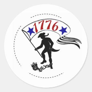 (1776) CLASSIC ROUND STICKER