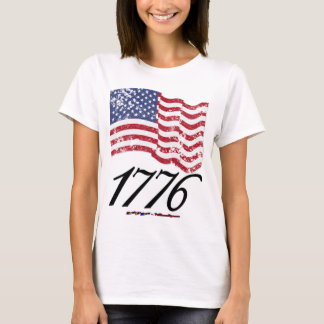 1776 Distressed American Flag T-Shirt