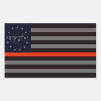 1776 Red Line Sticker