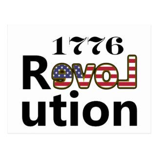 """1776 révolutions """"des Etats-Unis d'amour"""" Carte Postale"""