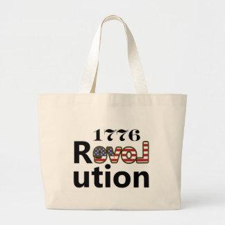 """1776 révolutions """"des Etats-Unis d'amour"""" Sac En Toile Jumbo"""