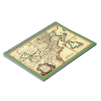 1778 Map of Canada and the United States Spiral Notebooks