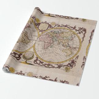 1782 Map of the World by George Augustus Baldwyn