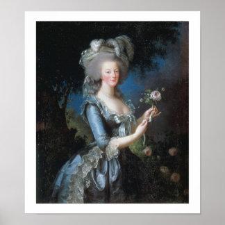 1783 Queen Marie Antoinette Vintage Art Poster