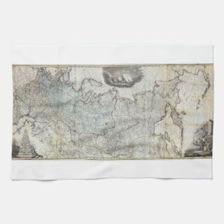 1787 Wall Map of the Russian Empire Kitchen Towel