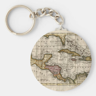 1790 Map of The West Indies by Dilly and Robinson Keychain