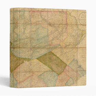 1792 State Of Pennsylvania Map by Reading Howell Vinyl Binder