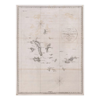 1793 Chart of the Galapagos