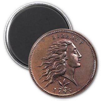 1793 Flowing Hair U.S. Penny Magnet