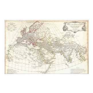 1794 Anville Map of the Ancient World Custom Stationery