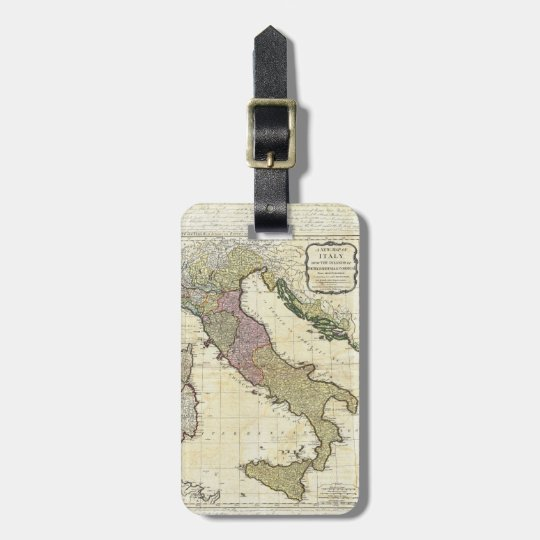 1794 Jean Baptiste Bourguignon D'Anville Italy Map Luggage Tag