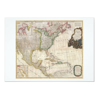 1794 Pownell Map of North America and West Indies Card