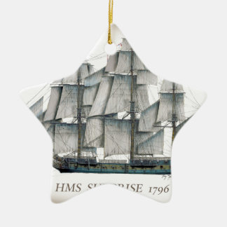1796 HMS Surprise aged Ceramic Ornament