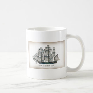 1796 HMS Surprise aged Coffee Mug