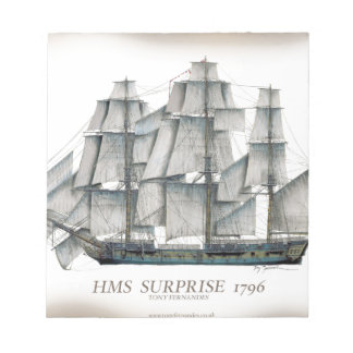 1796 HMS Surprise aged Notepad