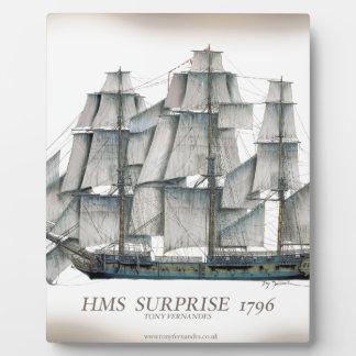 1796 HMS Surprise aged Plaque