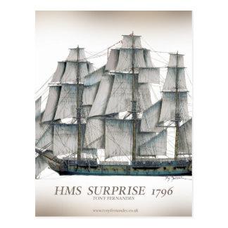 1796 HMS Surprise aged Postcard
