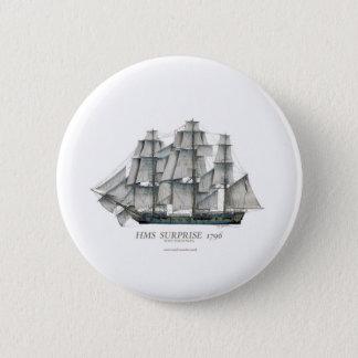 1796 HMS Surprise art 2 Inch Round Button