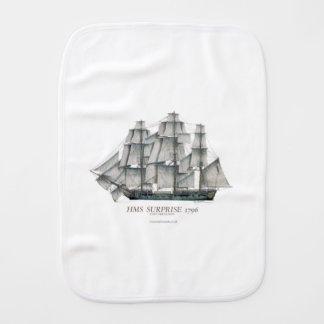 1796 HMS Surprise art Burp Cloth