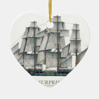1796 HMS Surprise art Ceramic Ornament