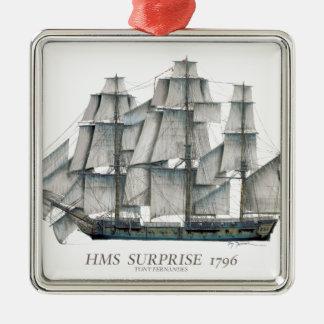 1796 HMS Surprise art Metal Ornament