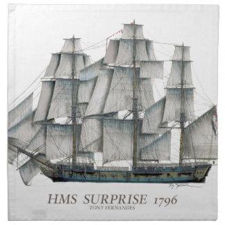 1796 HMS Surprise art Napkin