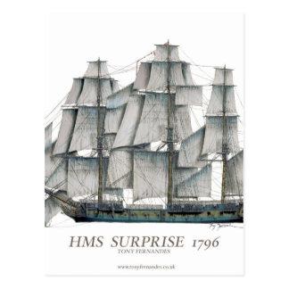 1796 HMS Surprise art Postcard