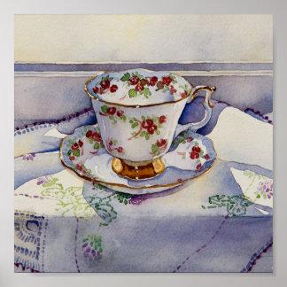 1799 Teacup on Linen Art Print