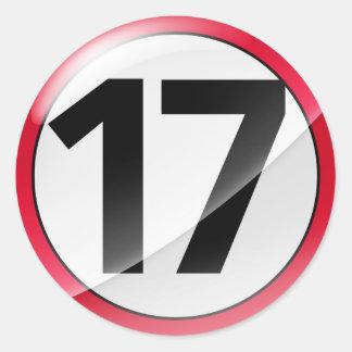 17 red sticker