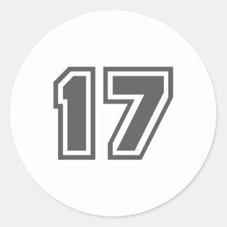 17 ROUND STICKER