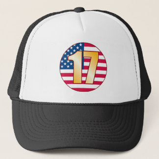 17 USA Gold Trucker Hat