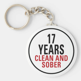 17 Years Clean and Sober Keychain