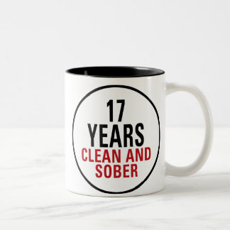 17 Years Clean and Sober Two-Tone Coffee Mug