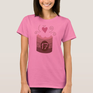 17ème Idées de cadeau d'anniversaire pour elle T-shirt