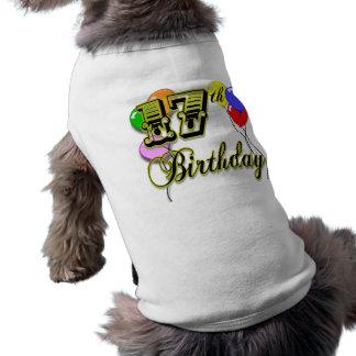 17ème Marchandises d'anniversaire T-shirts Pour Toutous