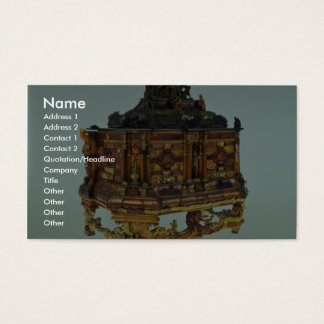 17th century amber casket, Malbork, Poland Business Card