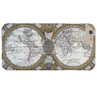 17th Century Antique World Map, c. 1688 Barely There iPhone 6 Plus Case