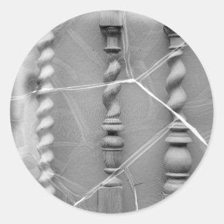 17th-century baluster classic round sticker