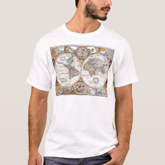 17th Century Dual Hemisphere World Map T-Shirt