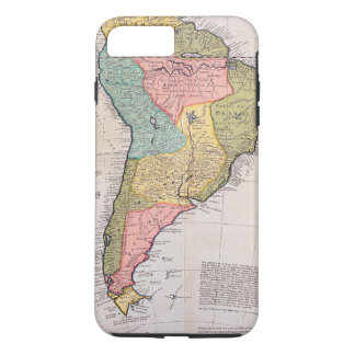 17th Century English Antique Map of South America iPhone 7 Plus Case
