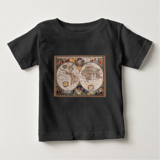 17th Century original World Map1600s Baby T-Shirt