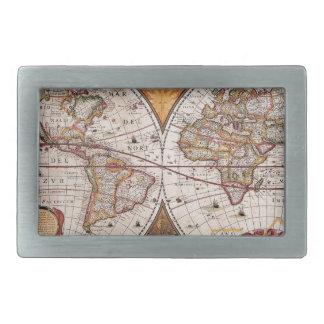 17th Century original World Map1600s Belt Buckle