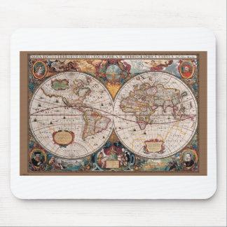 17th Century original World Map1600s Mouse Pad