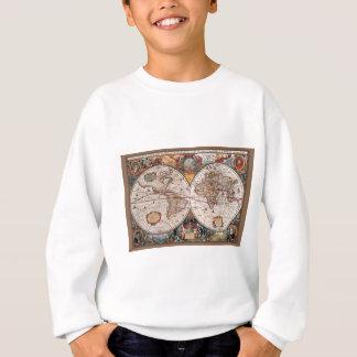17th Century original World Map1600s Sweatshirt